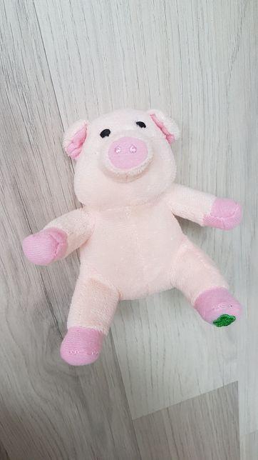Mała różowa świnka z koniczyną NA Szczęście NOWA