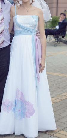 Продам свадебное дизайнерское платье б/у Киев (или Буча/Ирпень)