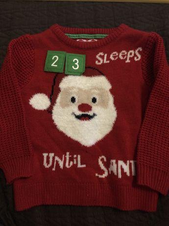 Новорічний светр на 2-3 роки