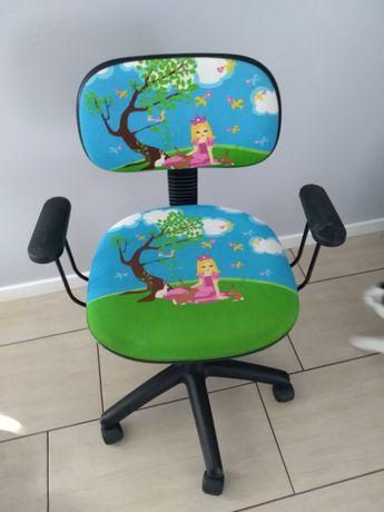 Fotel obrotowy dziewczęcy