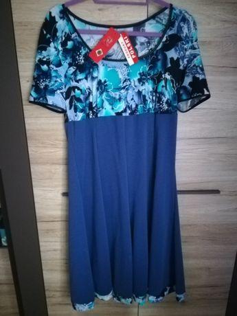 Sukienka w kwiatki XL Nowa