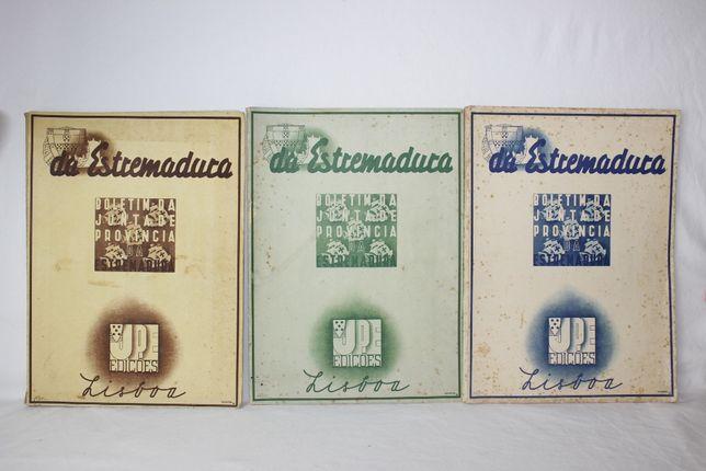3 Boletins da Junta Provincia Estremadura - Lisboa - 1938/ 1939/ 1940