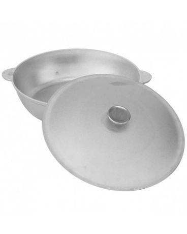 Алюминиевая сковорода Биол для жарки, тушения с крышкой