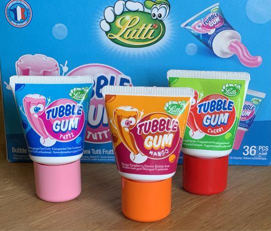 Жидкая жевательная резинка Tubble Gum в тюбике со вкусом тутти-фрутти