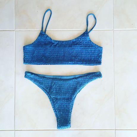 Bikini azul M Shein