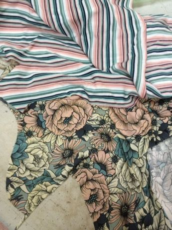 Набор кусочков тканей для рукоделия и трудов