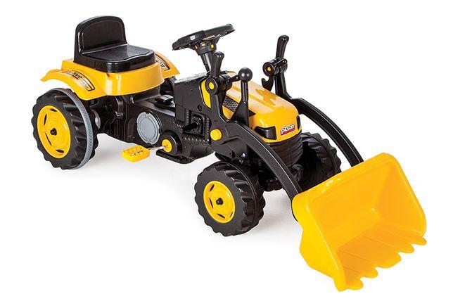 Traktor z ładowaczem, duży XL na pedały
