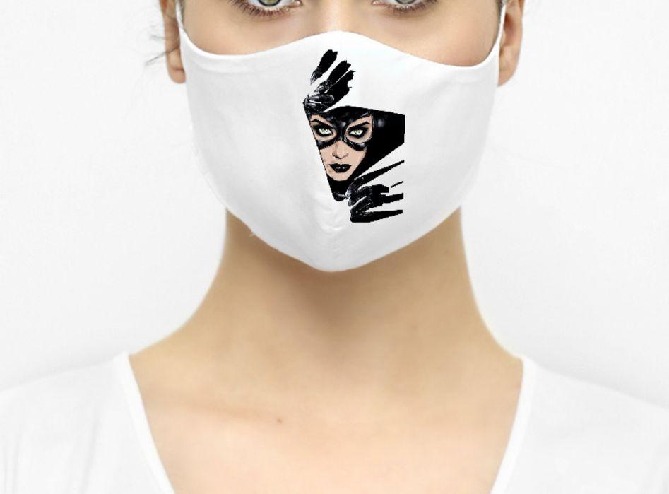 Maska maseczka ochronna Catwoman kobieta kot Sępólno Krajeńskie - image 1
