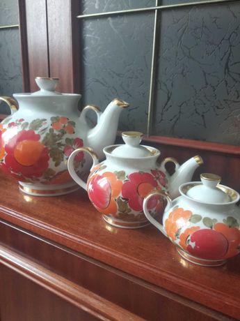 Чайники фарфоровые Петриковская роспись