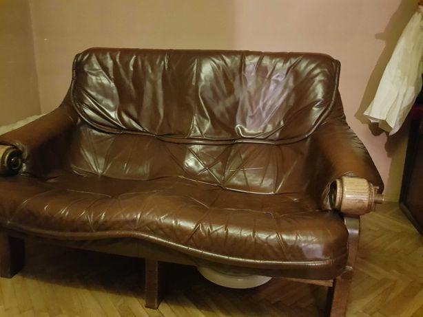 Meble holenderskie skórzane sofa