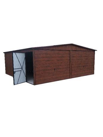 Garaż garaże blaszak drewnopodobny ocynk Ral 6x6 Producent