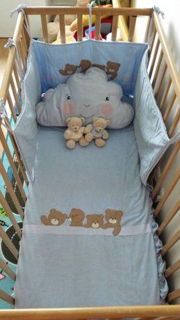PRÉ NATAL Edredon+ Capa+ Proteção grades cama bebé+ Saco de arrumação