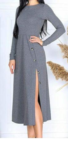 Стильна сукня в красивому сірому кольорі (нова)
