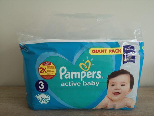 Pieluchy PAMPERS 3. 90 szt., 6-10 kg active baby