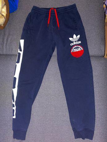 Spodnie dresowe dresy granatowe Adidas