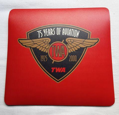 Tapete para rato edição especial 75 Anos da TWA, novo!