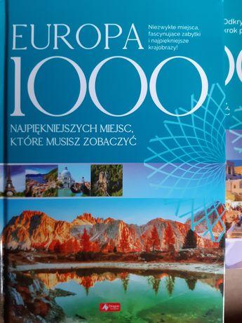 Książka 1000 najpiękniejszych miejsc Europa,  nowa