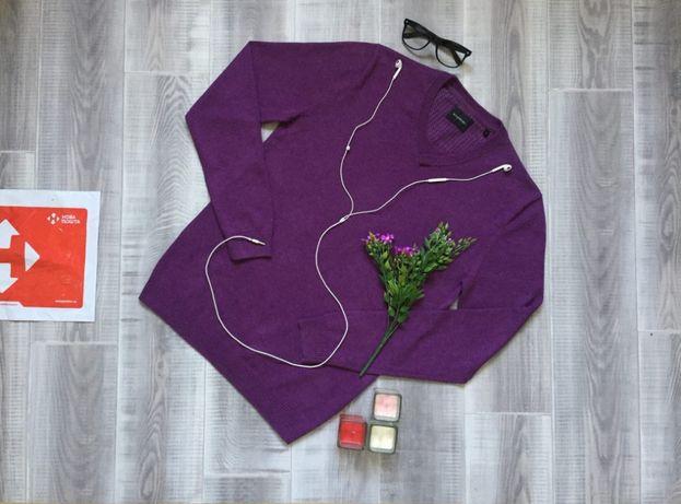 Свитер фиолетовый Westbury, размер S M, тёплый котон шерсть кофта худи
