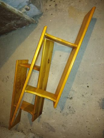 2 półki drewniane