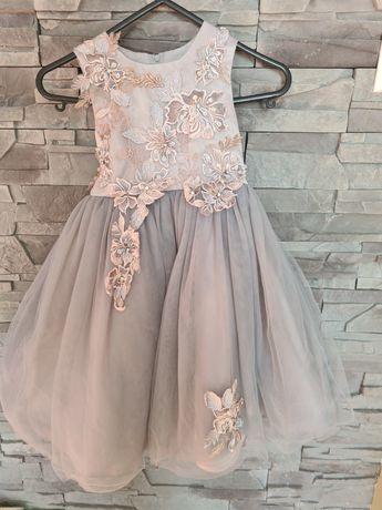 Piekna suknia wizytowa 116/122
