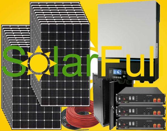 Kit – 7.2kw - Novo inversor - Monocristalino 15kw Prod. 7.200wh