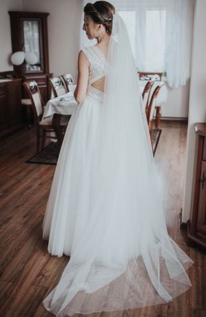 Suknia ślubna kolor ivory