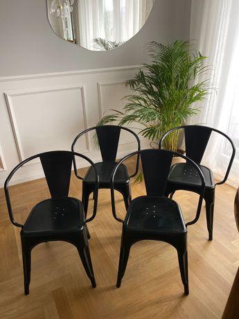 4 loft Krzesła komplet komplet stan idealny industrialne vintage