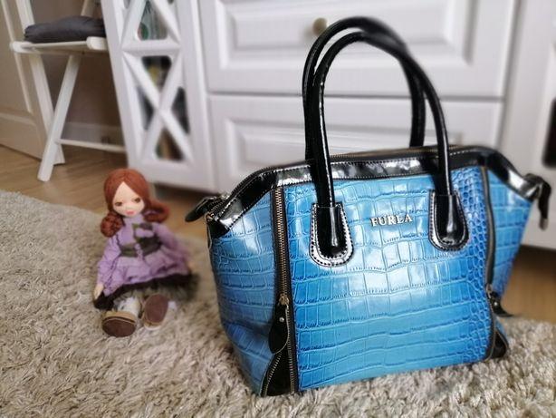 Сумка furla синя, синяя сумка