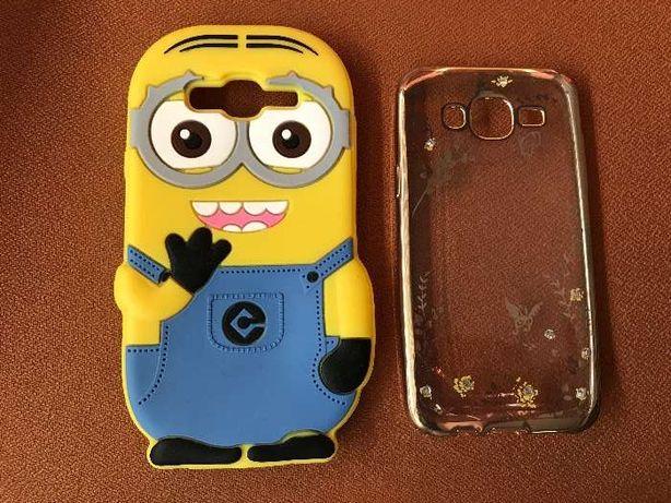 Capa em Silicone Minion+capa transparente dourada para Samsung J5 201