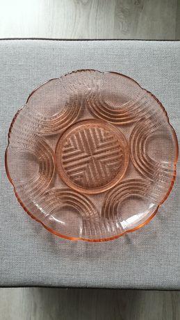 Szkło rozalinowe różowe łososiowe zestaw