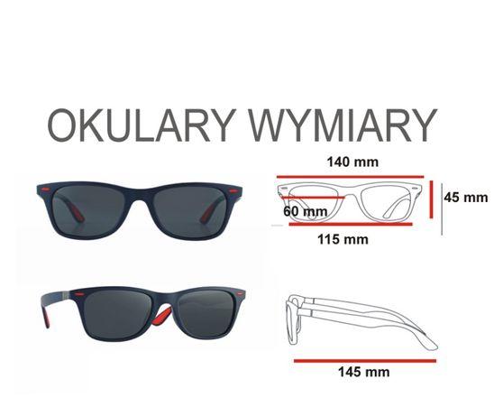 NOWE okulary przeciwsłoneczne polaryzacyjne czarne klasyczne uniseks