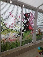 Художественная роспись витрин, стен, фасада
