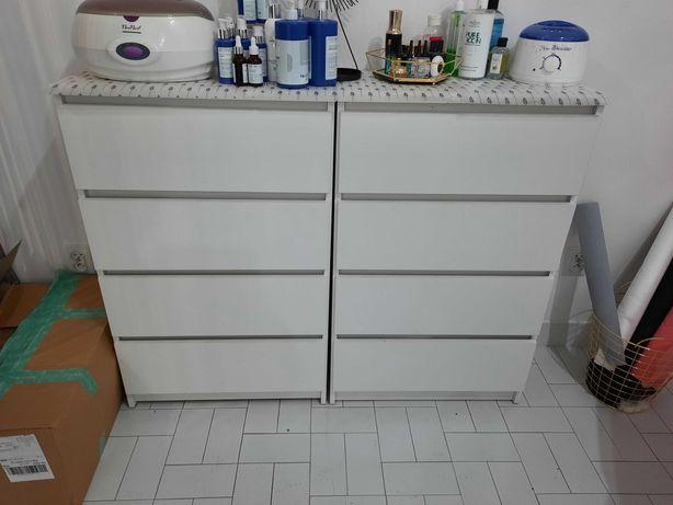 Szafka komoda wysoka szuflady biała