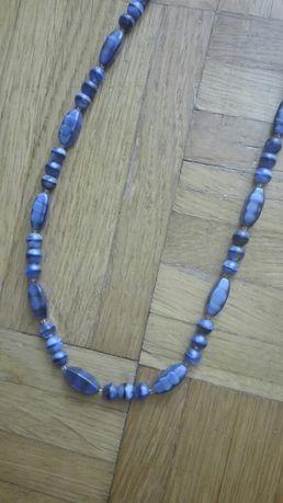 Korale niebieskie 70 cm