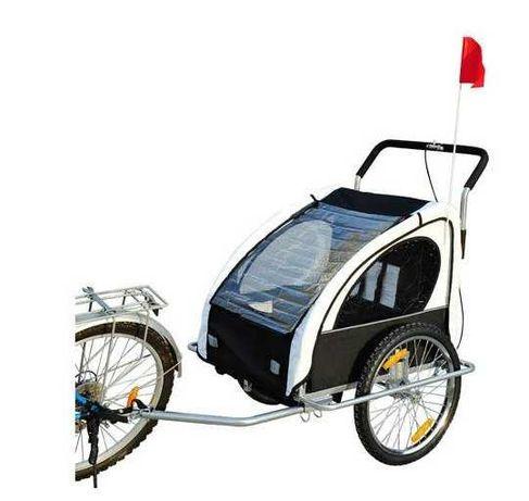NOWA Przyczepka rowerowa jogger dla dzieci biała