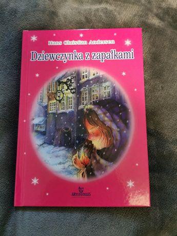 Książeczka, książka, świąteczna, dziewczynka z zapałkami