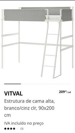 Vital - estrutura de cama alta (IKEA)