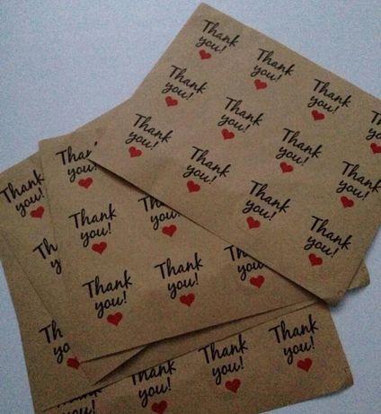 Naklejki ślubne, podziękowania, prezent