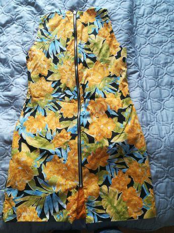 sukienka jeans sukienki koronka kwiaty fioletowa złota czarna s/xs