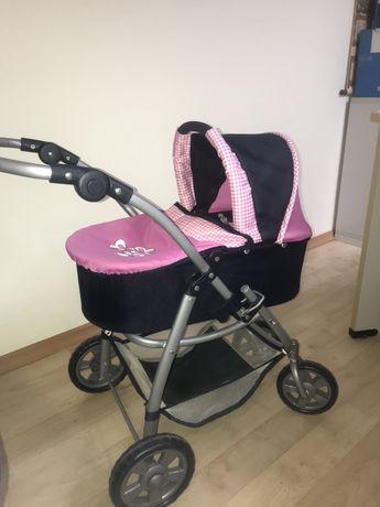 Wózek dla lalek+darmowa lalka w zestawie