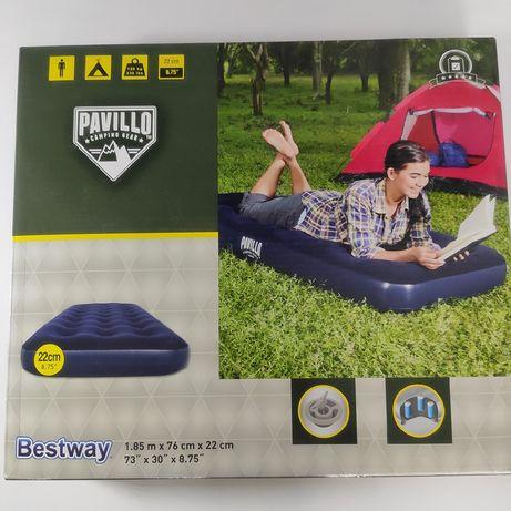 Надувной матрас (синий, велюр) Bestway Pavillo Camping