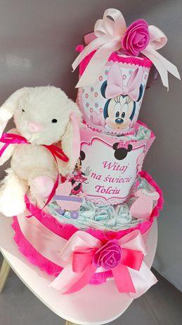 Tort z pampersów  urodziny, narodziny, chrzest
