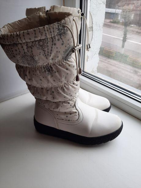 Зимние сапоги девочке, 34 размер, 21 см