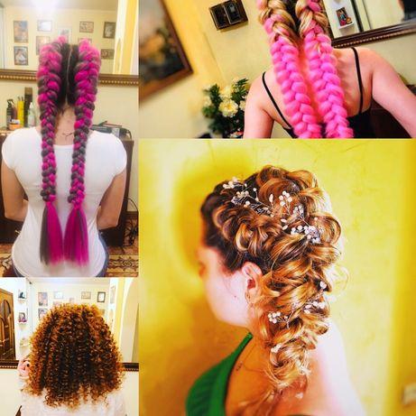 Афрокудри,плетение кос с канекалоном,локоны на любую длину! С выездом!