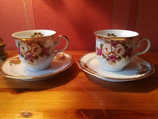 Stara porcelana dla dwojga Winterling Bavaria-filiżanki