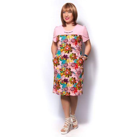 Платье женское летнее из льна р.54