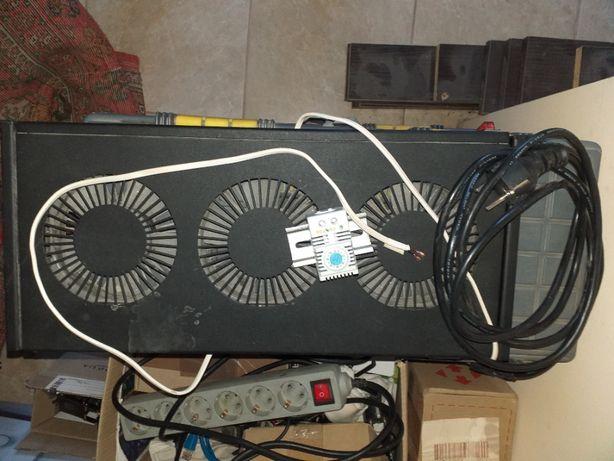 """Вентиляторный блок с термостатом 1U 19"""" Conteg (DP-VEN-03-H)"""