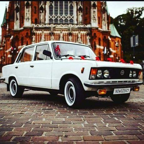 Samochód do ślubu biały Fiat 125p. Auto do ślubu i na inne okazje