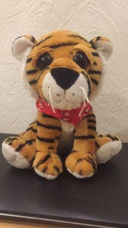 Мягкая игрушка тигр с большими глазами