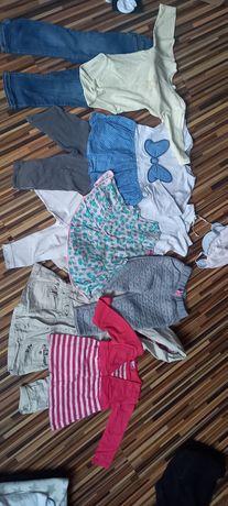 Paka 92 98  ubranka spodnie sukienki bluzki